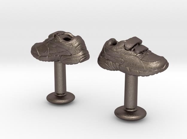 Shoe cufflinks 3d printed