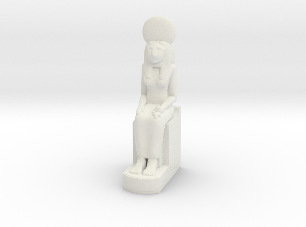 Sekhmet 10 cm in White Natural Versatile Plastic