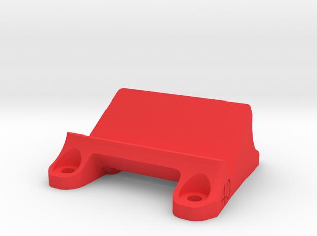 DemonRC NOX5 - 40° GoPro Xiaomi Yi MOUNT in Red Processed Versatile Plastic