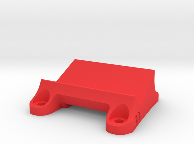 DemonRC NOX5 - 30° GoPro Xiaomi Yi MOUNT in Red Processed Versatile Plastic