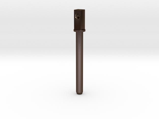 CSF#1 - Flipper Post - Pinball Flipper Bat in Polished Bronze Steel