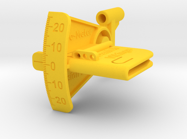 Klap-O-Meter in Yellow Processed Versatile Plastic