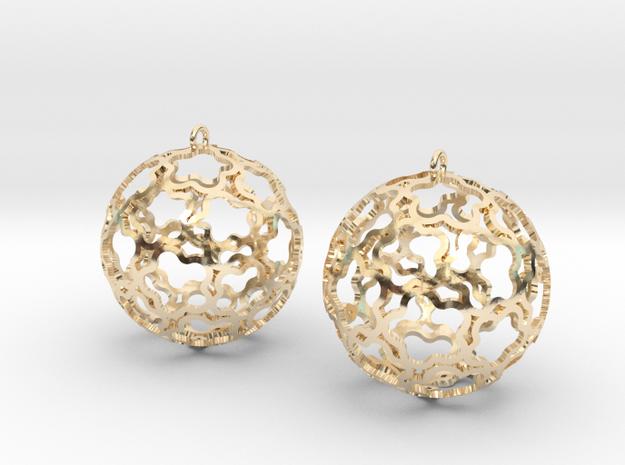 Earrings (set) Flower Ball 28 in 14k Gold Plated