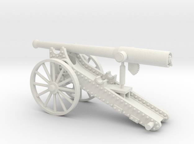 "Boer War ""Long Tom"" in White Natural Versatile Plastic"