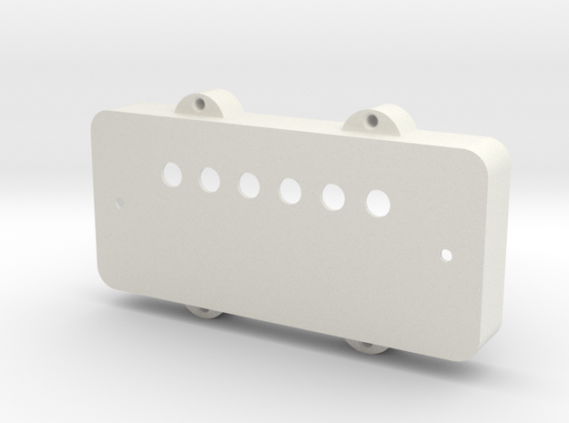 Jazzmaster Pickup Cover - Covered Humbucker Mount in White Natural Versatile Plastic