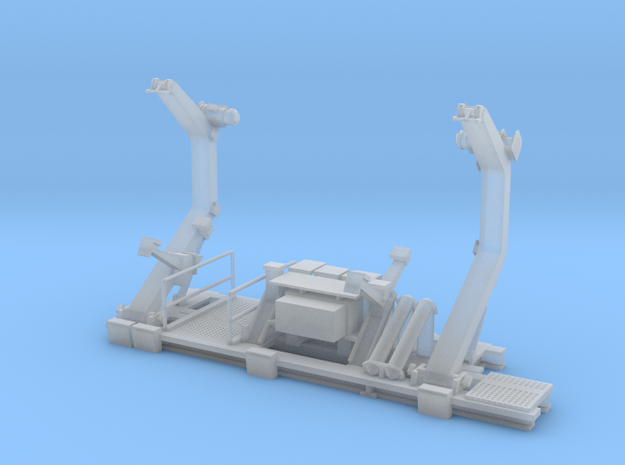 1/96 scale Coast Guard Dual Point Pivot Davits in Frosted Ultra Detail