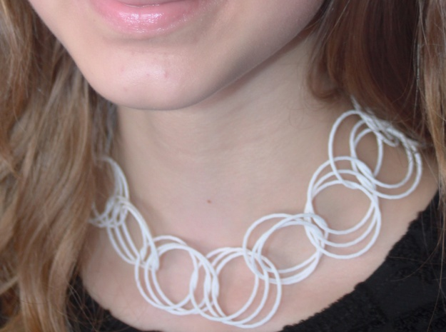 Chained Together in White Natural Versatile Plastic