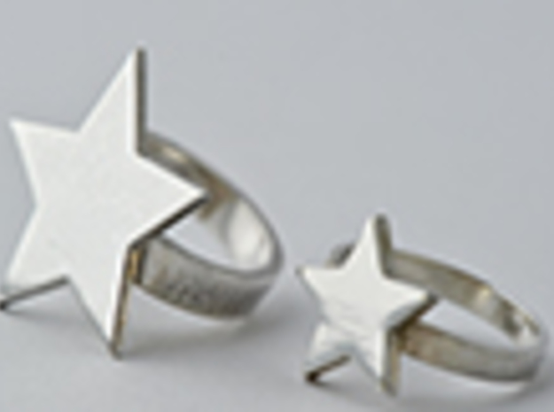 Silver Star Ring (size L) in Polished Silver