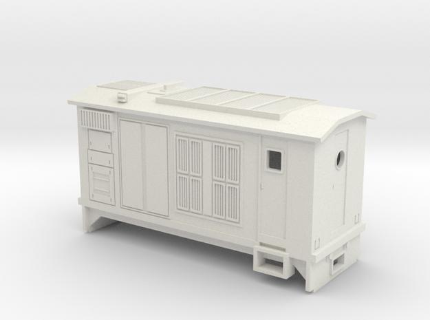 HOn30 B-Unit Boxcab Locomotive (Katie 1) in White Natural Versatile Plastic
