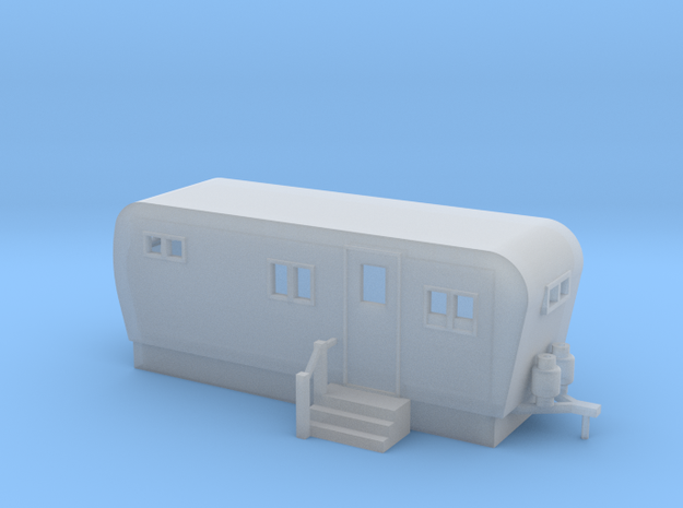 Trailer 20ft - N 160:1 Scale in Smooth Fine Detail Plastic