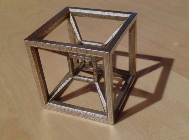 Tesseract in Stainless Steel