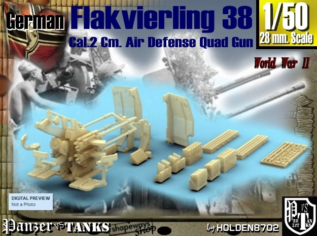 1-50 Flakvierling 38 For A-Wagen W Boxes