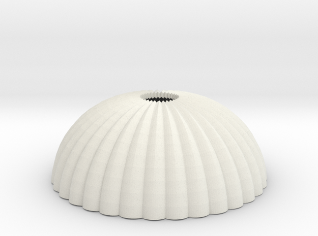 1/87 H0 scale army parachute para Fallschirm in White Natural Versatile Plastic