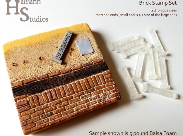 HS STUDIOS BRICK STAMP in Smooth Fine Detail Plastic