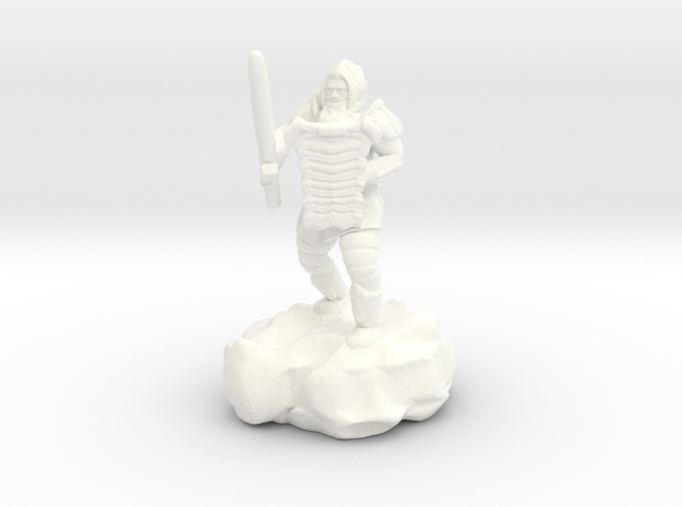 Hill Dwarf Figher in White Processed Versatile Plastic