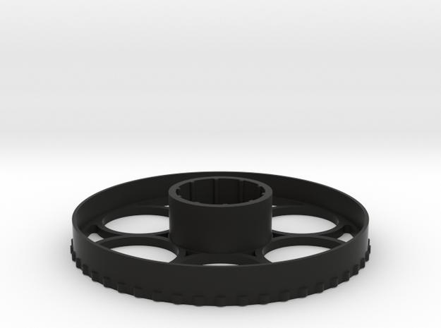 Mueller 8-32 Scope Wheel 125mm in Black Natural Versatile Plastic