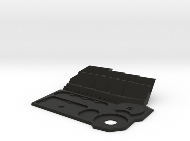 Full Armada Ship Tray in Black Natural Versatile Plastic