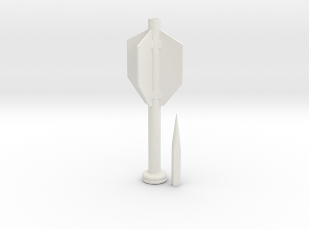 Gaffi Stick Finned Spike 2 Piece in White Natural Versatile Plastic
