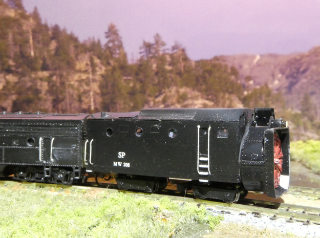 SP Rotary Snow Plow in N Scale in Smooth Fine Detail Plastic