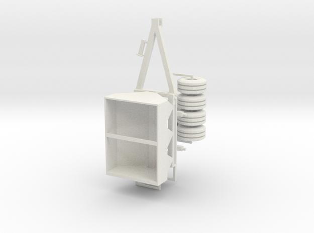 1/64 fertilizer spreader hydraulic drive version in White Strong & Flexible