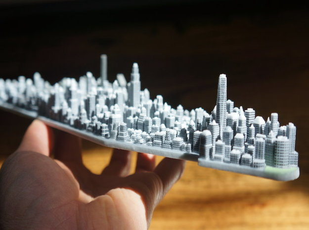 Manhattan New York City 3d Model Sculpture Souveni in Full Color Sandstone