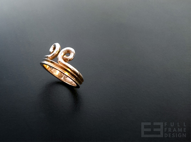 """Sun Wukong """"Monkey King"""" Ring (Multiple Sizes) in Polished Bronzed Silver Steel"""