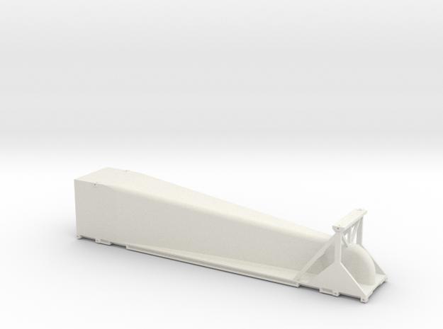 HO 1/87 Doublestack Arrowedge - aerodynamic wedge in White Natural Versatile Plastic