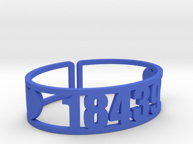 Ramah Zip Cuff in Blue Processed Versatile Plastic