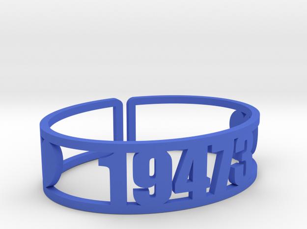 Kweebec Zip Cuff in Blue Processed Versatile Plastic