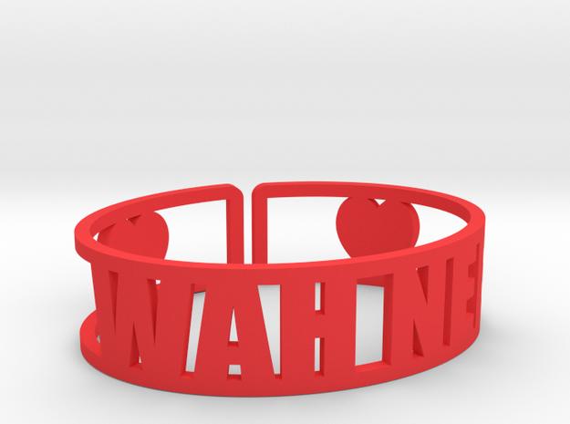 Wah Nee Cuff in Red Processed Versatile Plastic