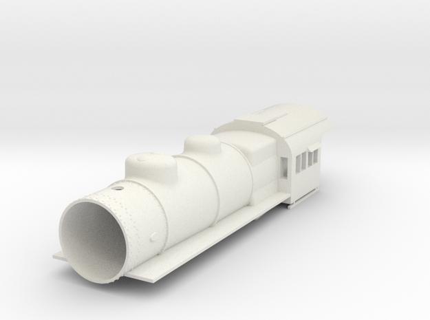 PRR E6 S Scale Basic, Empty Smokebox in White Natural Versatile Plastic