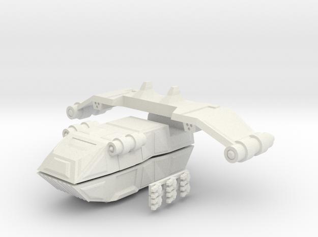 Gator Gunship in White Natural Versatile Plastic