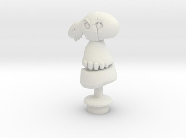 Custom Mad Dummy- Inspired Figure for Lego in White Natural Versatile Plastic