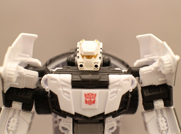 Autorooper Head For Combiner Wars Prowl in Frosted Ultra Detail