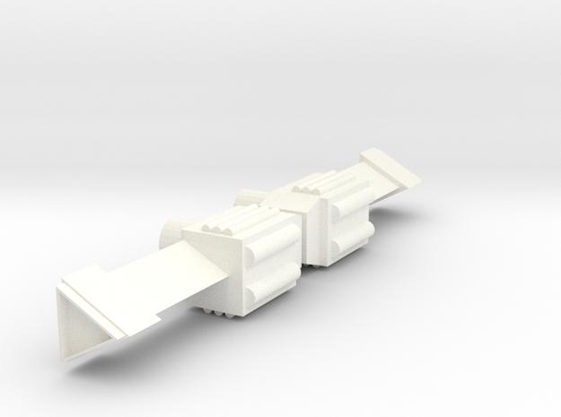 Gizmo Blaster 2-pack in White Processed Versatile Plastic