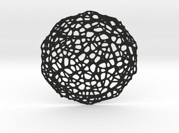 Coaster - Voronoi #7 (20 cm) in Black Natural Versatile Plastic
