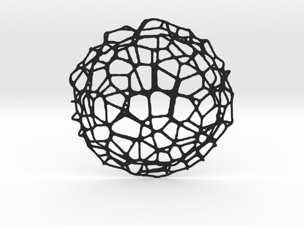 Coaster - Voronoi #9 (20 cm) in Black Natural Versatile Plastic