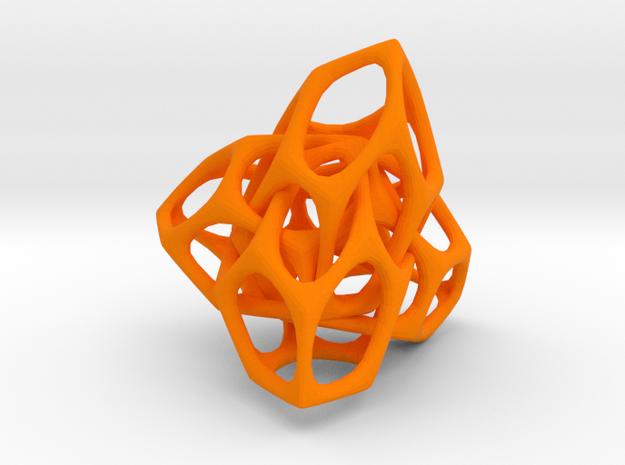 Entrelace1 in Orange Processed Versatile Plastic
