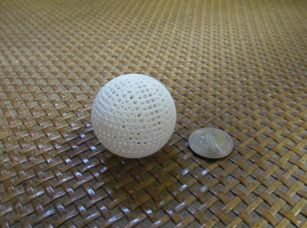 Hollow Wire Sphere V3 in White Strong & Flexible