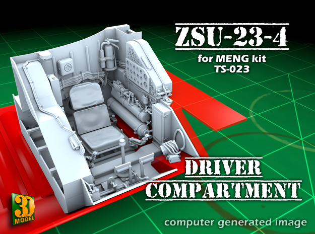 ZSU-23-4 shilka driver compartment (MENG) in Frosted Ultra Detail