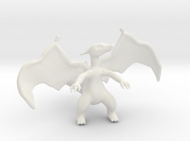 Charizard in White Natural Versatile Plastic