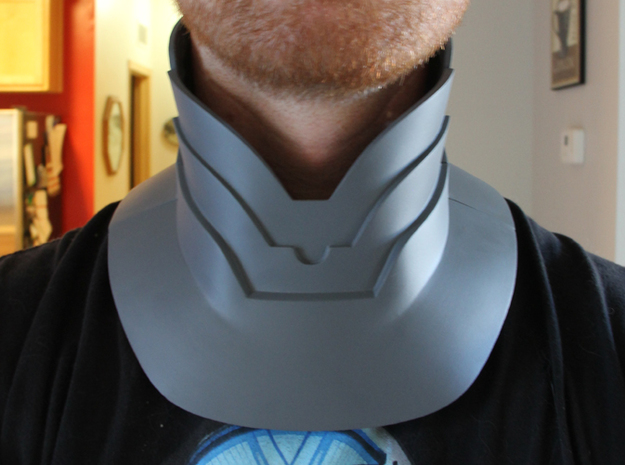 Part 1 of 2 - Iron Man Mark IV/Mark VI Neck Armor 3d printed What yours could look like after being Sanded & Primed