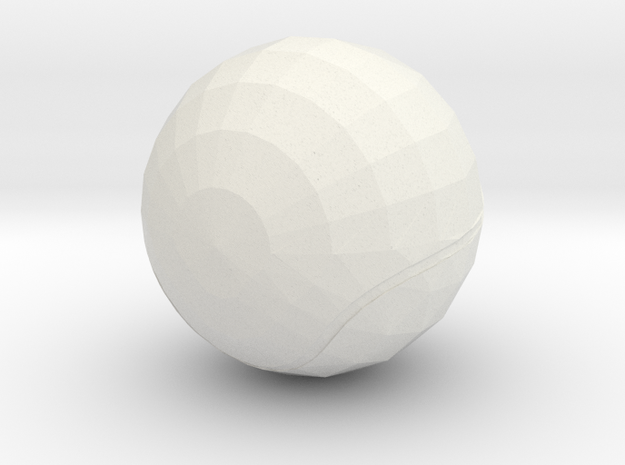 Tennis Ball in White Natural Versatile Plastic