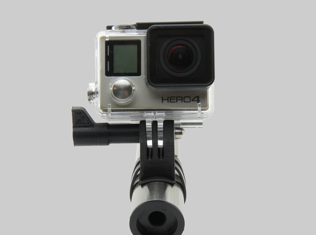 HType B (90°) - GoPro Bike Mount Universal Ski Pai in Black Natural Versatile Plastic