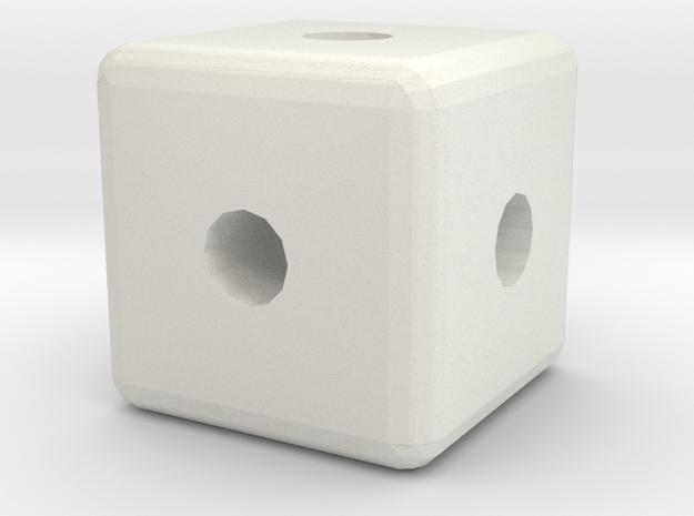 Cube 2 in White Natural Versatile Plastic
