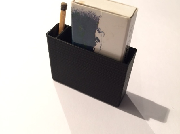 """""""Anti Smell"""" Box For Matches in White Natural Versatile Plastic"""