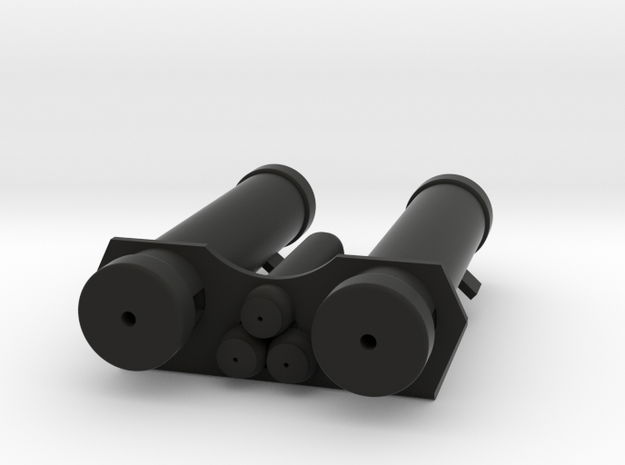 E-11 Power Cylinders v1.1 Profile A in Black Natural Versatile Plastic