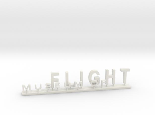 MOF Sign #3[72-1] in White Natural Versatile Plastic