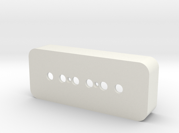 P-90 Pickup Cover in White Natural Versatile Plastic