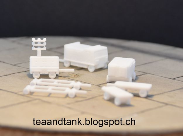 1/144 Ground Equipment modern airplanes in White Strong & Flexible